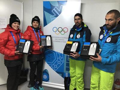 گوشی های سامسونگ به دست ورزشکاران ایران رسید