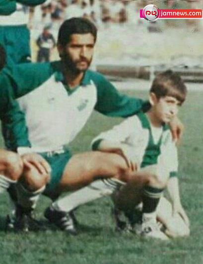 کودکی محمدرضا گلزار در کنار فیروز کریمی!