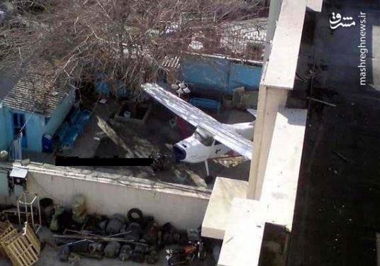 پارک هواپیما در حیاط یک تهرانی!